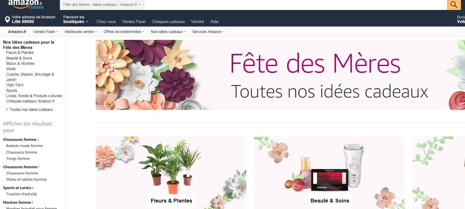 Amazon ouvre une boutique ph m re pour la f te des m res neomag - Fete des grands meres 2017 date ...