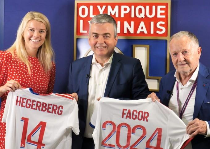 Fagor Electroménager s'engage dans le football féminin avec l'Olympique Lyonnais