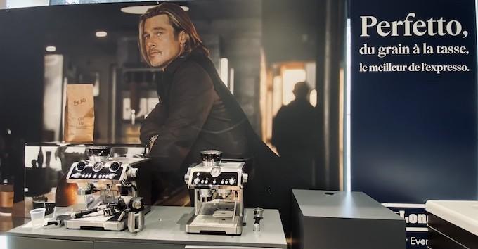 Brad Pitt devient la nouvelle icône cool du café selon De'Longhi